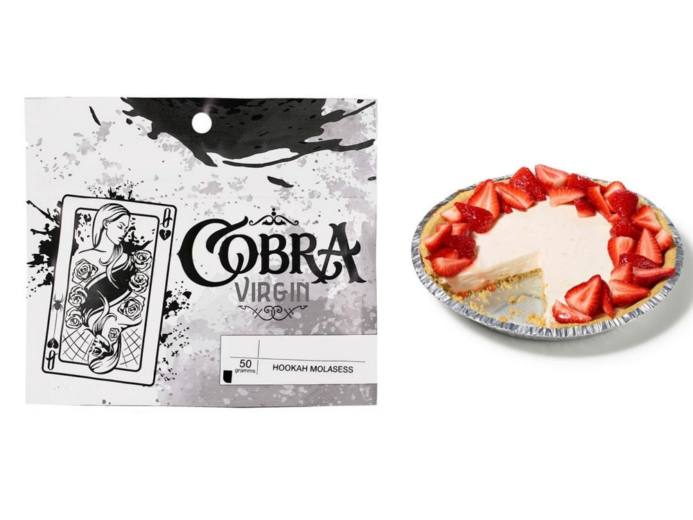 Табак для кальяна на основе чайной смеси Cobra Origins Strawberry (Кобра Клубника) 50г