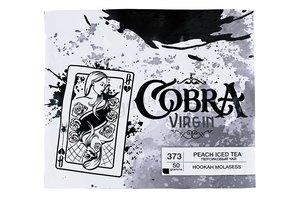 Табак для кальяна на основе чайной смеси Cobra Virgin со вкусом Peach Iced Tea (персиковый холодный чай) 50 гр.