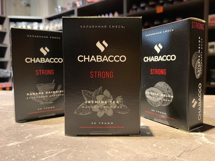 Табак для кальяна на основе чайной смеси Chabacco Cherry (Вишня) Strong 50 гр