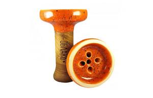 Чаша для кальяна Облако Black Glaze Top 50 оранжево черный мрамор