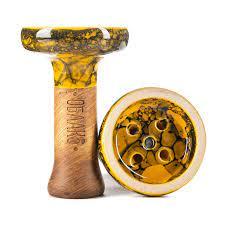 Чаша для кальяна Облако Black Glaze Top 54 желто черный мрамор