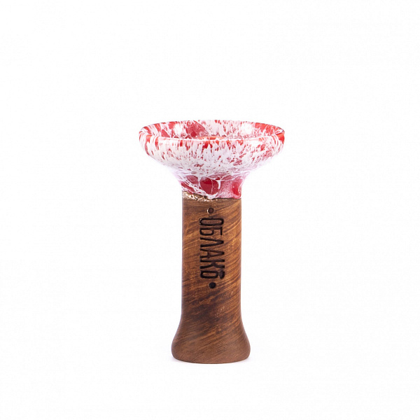 Чаша для кальяна Облако Phunnel M Glaze Top 31 Красный Мрамор