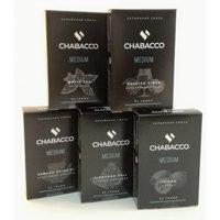 Табак для кальяна на основе чайной смеси Chabacco Blueberry Mint (Черника с мятой) Medium 50 гр