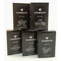 Табак для кальяна на основе чайной смеси Chabacco Cherry (Вишня) Medium 50 гр