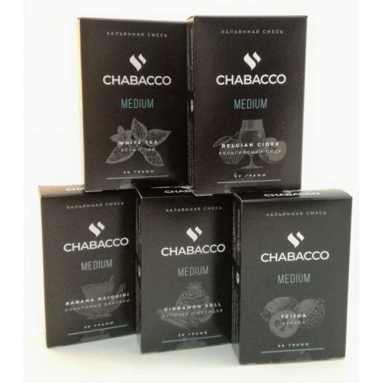 Табак для кальяна на основе чайной смеси Chabacco Lemon-Lime (Лимон-Лайм) Medium 50 гр