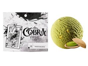 Табак для кальяна на основе чайной смеси Cobra Virgin Pistachio Ice Cream (Кобра Фисташковое Мороженое) 50г
