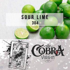 Табак для кальяна на основе чайной смеси Cobra Virgin Sour Lime (Кислый Лайм) 50 гр