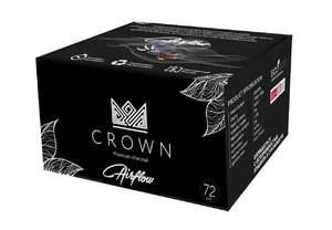 Уголь кокосовый Crown Airflow (Рифленый) 1 кг 72 шт